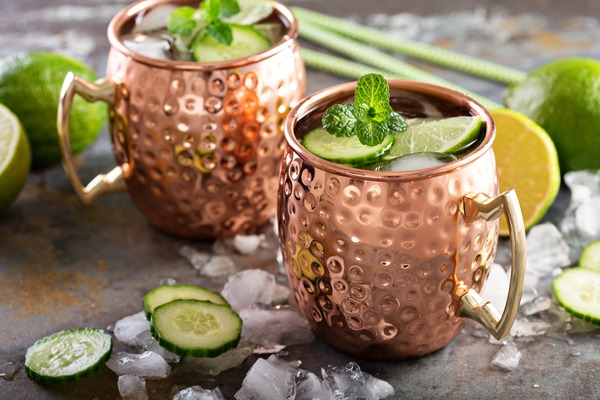Cocktail vodka Moscow Mule